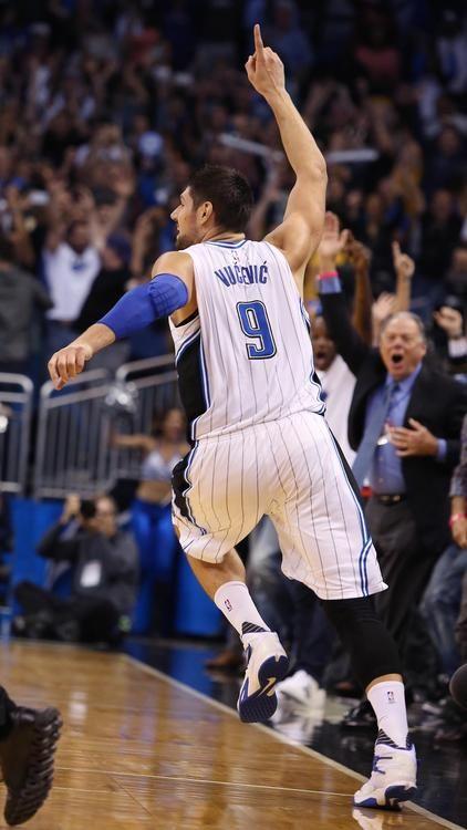 Nikola Vucevic, Orlando Magic. 11 novembre 2015, game winner vs Lakers.