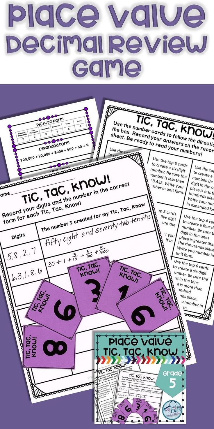 Use this game like activity to provide fun place value practice for your fifth and sixth grade students. Classroom anchor charts are included for bulletin boards. Also included are student sized charts that can be used as a resource during the game or in an interactive notebook. Students will create up to 5-digit numbers into the thousandths place and write in expanded form, unit form, picture form, number form and word form. Great for practice or review for 5th and 6th grade students or…