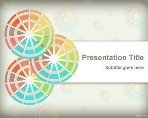 Plantilla con circulos de colores para PowerPoint