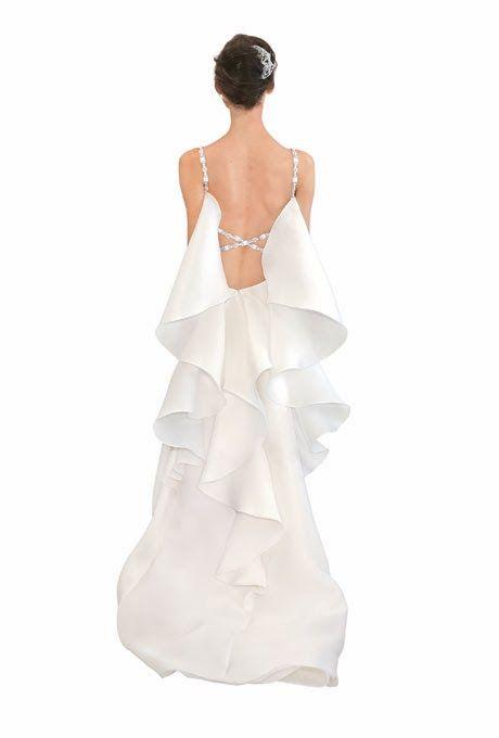 5 Tendências em Vestidos de Noiva 2014 - 4º Babados Dramáticos | 5 Trends In Wedding Dresses 2014-4 º Dramatic Ruffles