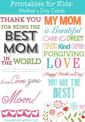 80 best Mother\u0027s Day~Women~Girls images on Pinterest Free - online printable mothers day cards