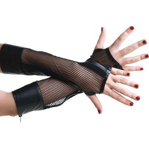 Handschuhe aus Netzstoff