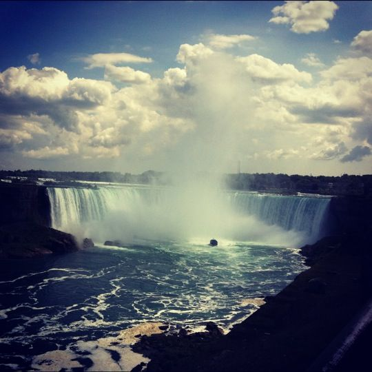 City of Niagara Falls, ON in Ontario Remembering the glorious sounds and sight from my bedroom window at Loretto Academy during high school days.