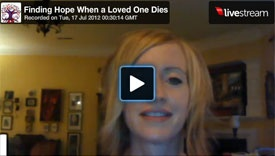"Our new Virtual Classes which can be accessed across the globe! This video session is entitled ""Finding Hope When a Loved One Dies."" Our lead therapist, Mandy Eppley, does a new FREE virtual class on grief and loss every month which can be accessed from our website or Facebook page!"