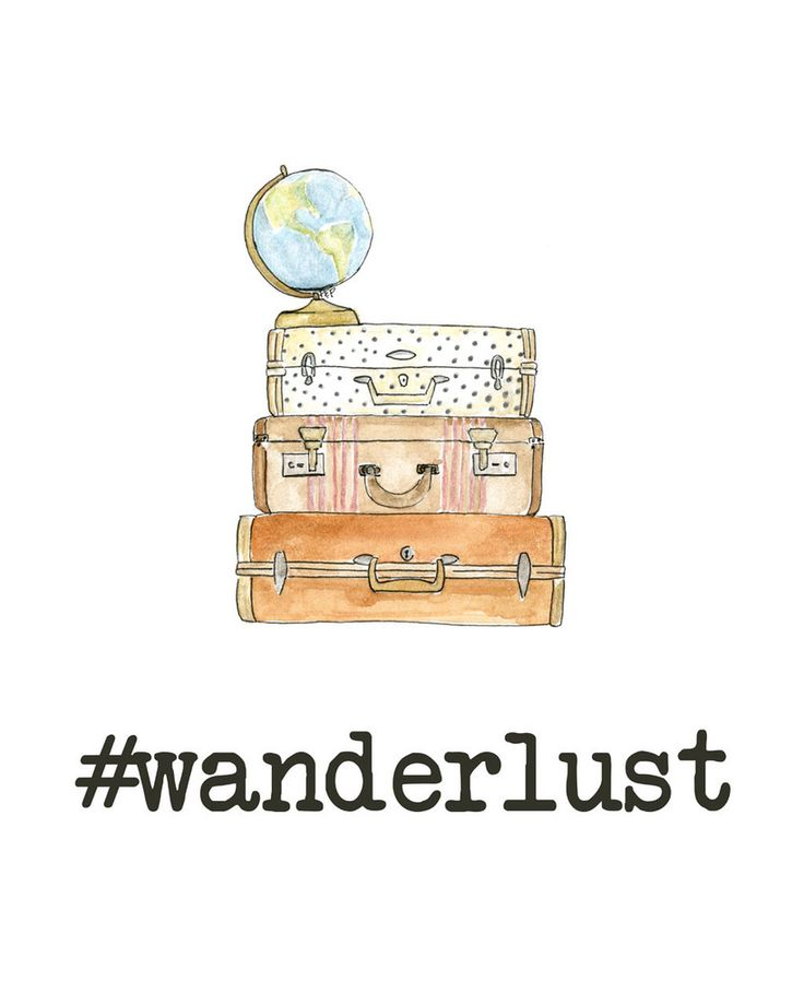 Cute hand drawn #wanderlust print. All orders placed on 11/16-11/17 receive a FREE Thanksgiving print or set of 6 place cards!