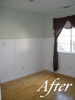 Pregnant... with power tools: Wainscoted Nursery: part 1(faux wainscoting)