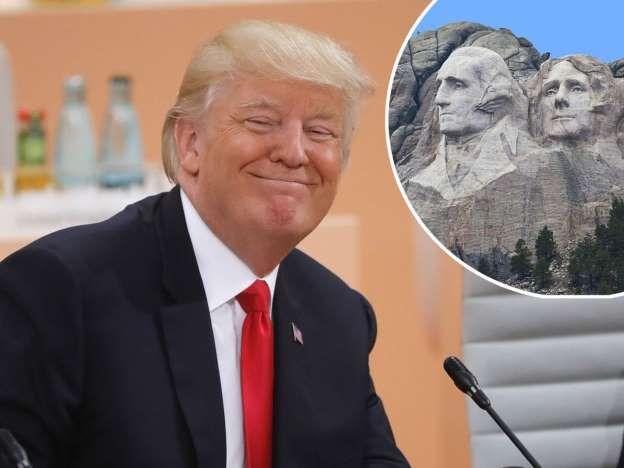 Donald Trump blague sur le Mont Rushmore : les internautes le tournent en ridicule et c'est génial