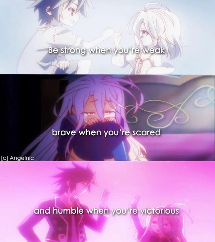 Saying Quotes About Sadness: Anime- No Game No Life