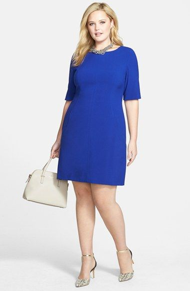 Tahari by Arthur S. Levine Seam Detail A-Line Shift Dress & Accessories (Plus Size) available at #Nordstrom