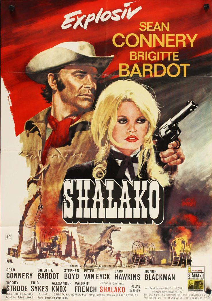 Shalako | German movie poster, 1968. | Movie posters, Old