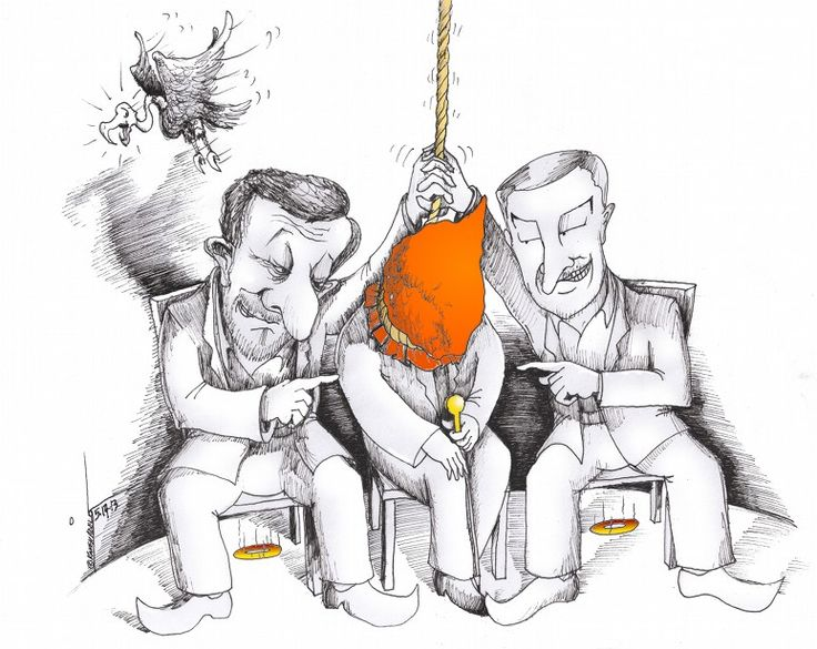 "Political Cartoon: ""Vulture Baffled"" By Kaveh Adel Cartoonist 