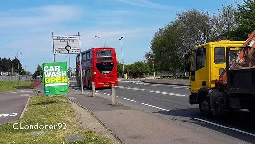 Buses at Bridge Road, Rainham, Havering, Essex  Filmed on 9th May 2016