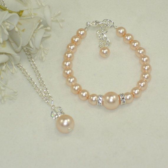 Flower Girl Jewelry 12 Pendant and Bracelet Set by callalilyjewels, $20.00