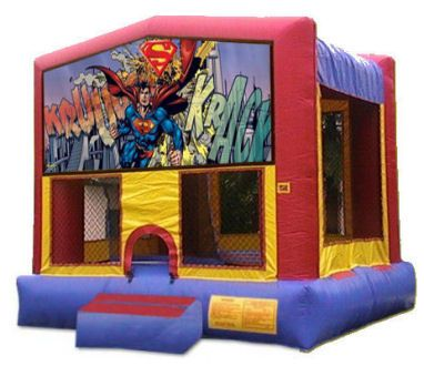15' x 15' Superman  Deluxe MoonBounce Rental