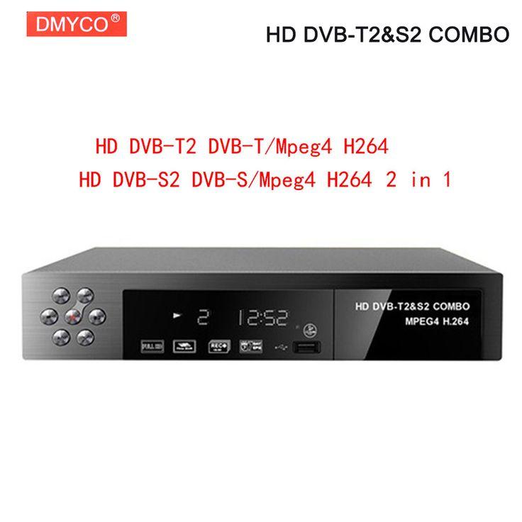 Digital Terrestrial Satellite TV Receiver Combo dvb t2 S2 HD 1080P dvb-t2 dvb-s2 tv Box H.264 / MPEG-2/4 Support Auto/PAL/NTSC #Affiliate