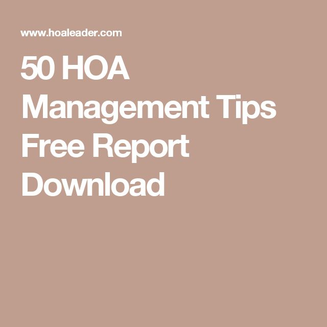 50 HOA Management Tips Free Report Download