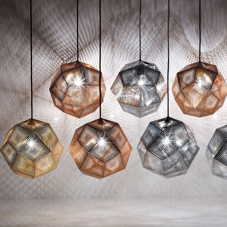 Tom Dixon - Etch Mini Pendant Light - Copper