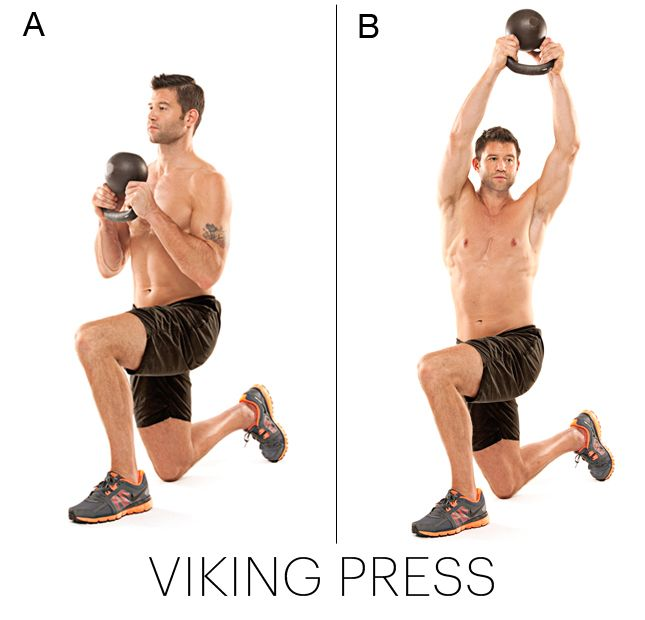 Viking Press-Change the Shape of Your Body with this workout from Master Trainer Josh Stolz's 4-week program that is scientifically designed to remake every muscle. #QBlog #Fitness #Exercise