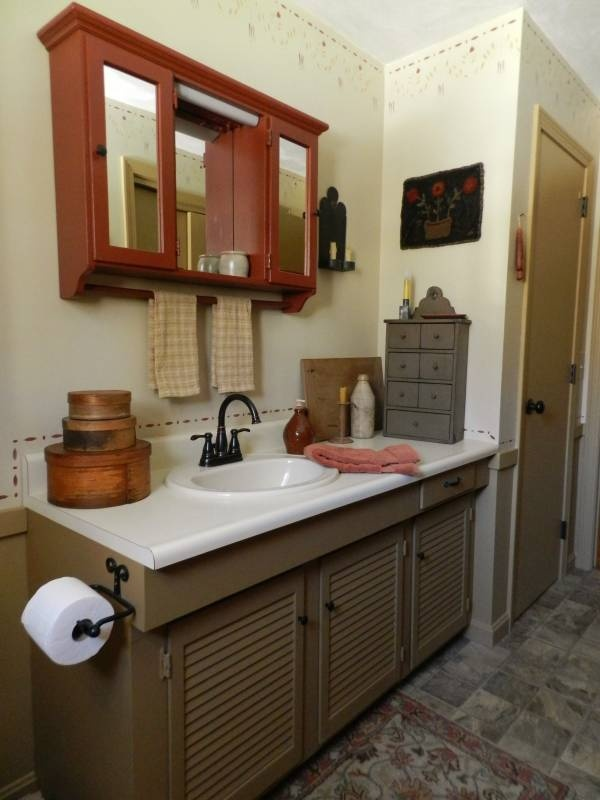 1000 images about primitive colonial rooms on pinterest for Colonial bathroom ideas