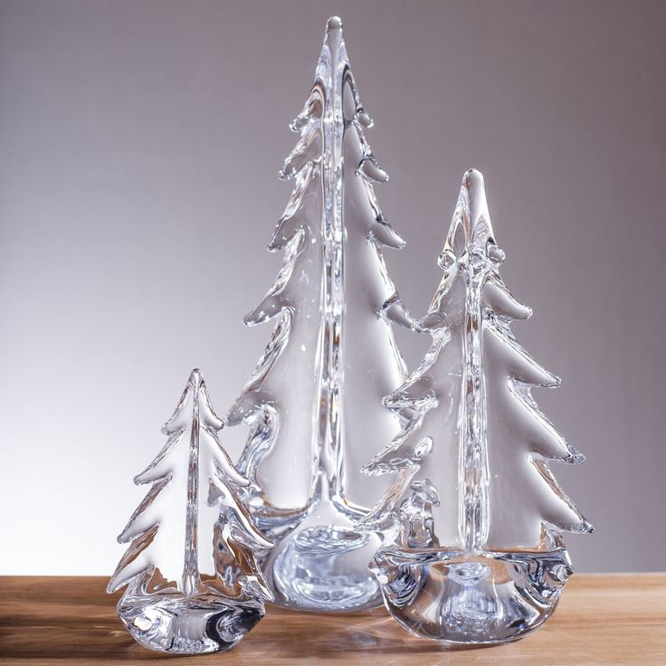 The Simon Pearce Vermont Evergreen glass trees are classy and versatile, the delicate glass goes with just about any decor.