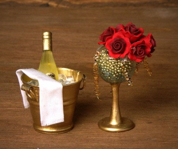 Elegant Miniature Champagne Bucket for your by DinkyWorld on Etsy