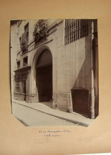 Hôtel, 13 rue Champollion (ancienne rue des Maçons), 5ème arrondissement, Paris | Paris Musées
