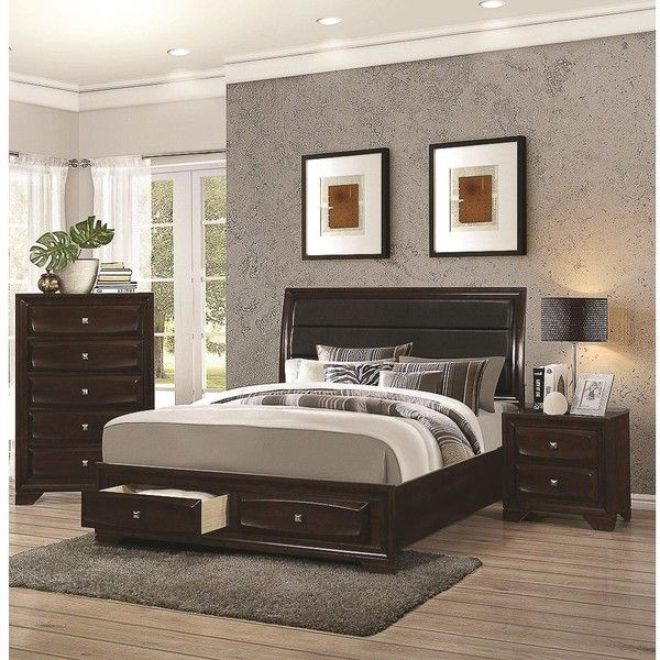 jackson 3 piece bedroom collection krw liked on polyvore featuring home