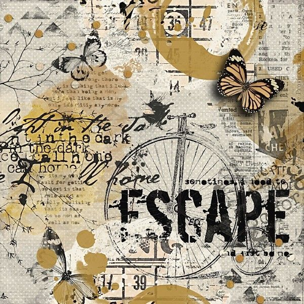 TIPS to disguise sensitive journaling. - Digital Scrapbook Art Journal Page by Yolanda using supplies by Captivated Visions