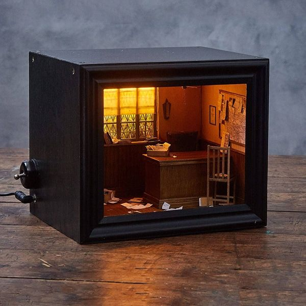 Model Maker Creates Spooky Miniature Scenes Framed Within Shadow Box Dioramas