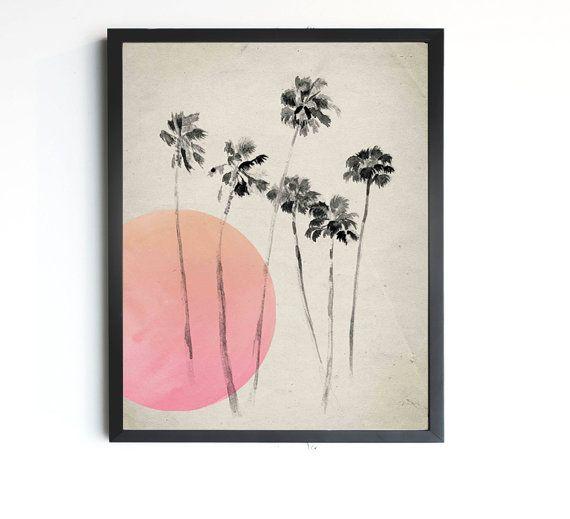 Palm Tree Print  California Palm Tree Art  Modern Palm by LunaReef