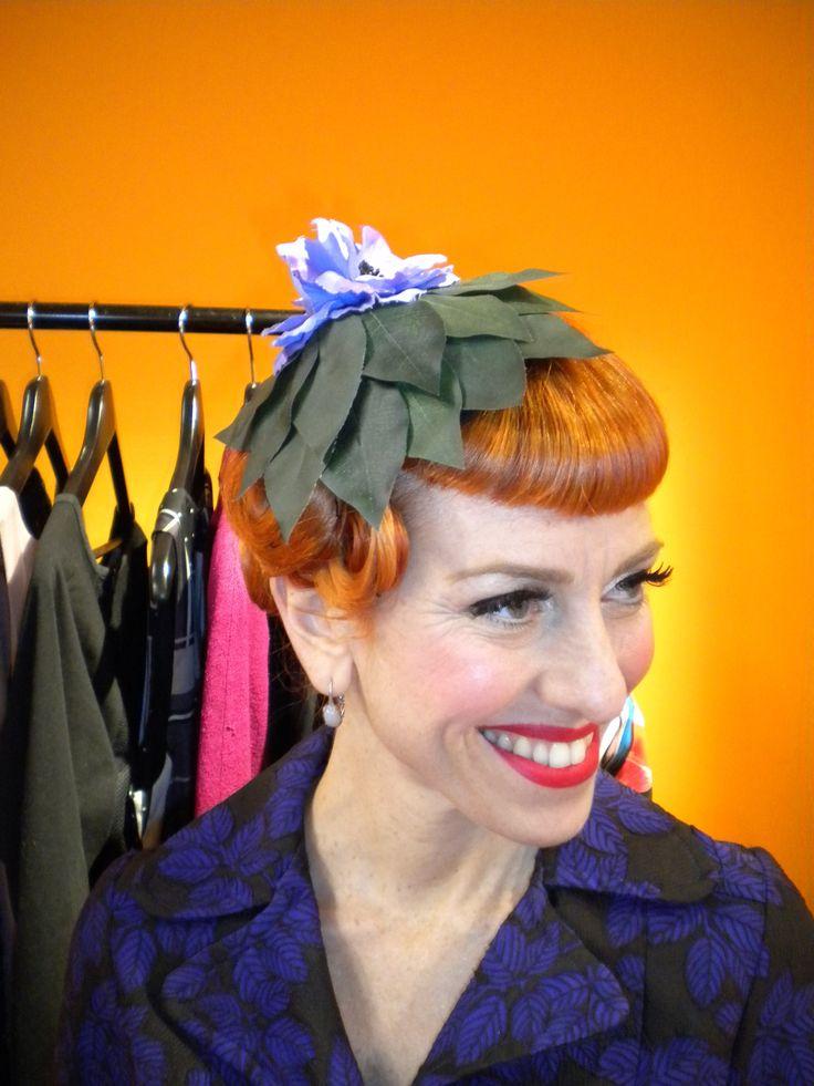 programma sulla 5 Lina'hair  cappello fiori e foglie www.sognidarte.com Lina Powder Montanari