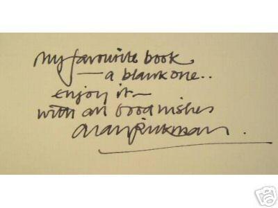 Witten by Alan Rickman in a blank book