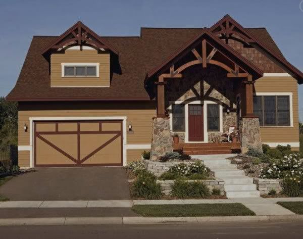 exterior house colors | View brown home exterior colors