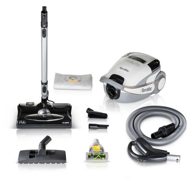 Prolux White TerraVac 5-Speed Quiet Vacuum Cleaner with Sealed Hepa Filter, Whites