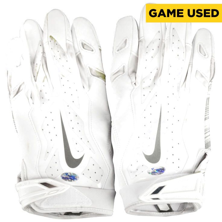Allen Barbre Philadelphia Eagles Fanatics Authentic Game-Used White Nike Pair of Gloves from September 20, 2015 vs Dallas Cowboys - 2 - $113.97