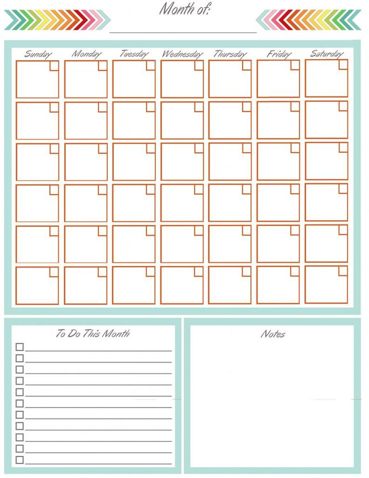 diy home sweet home: Home Management Binder - Blank Yearly Calendar