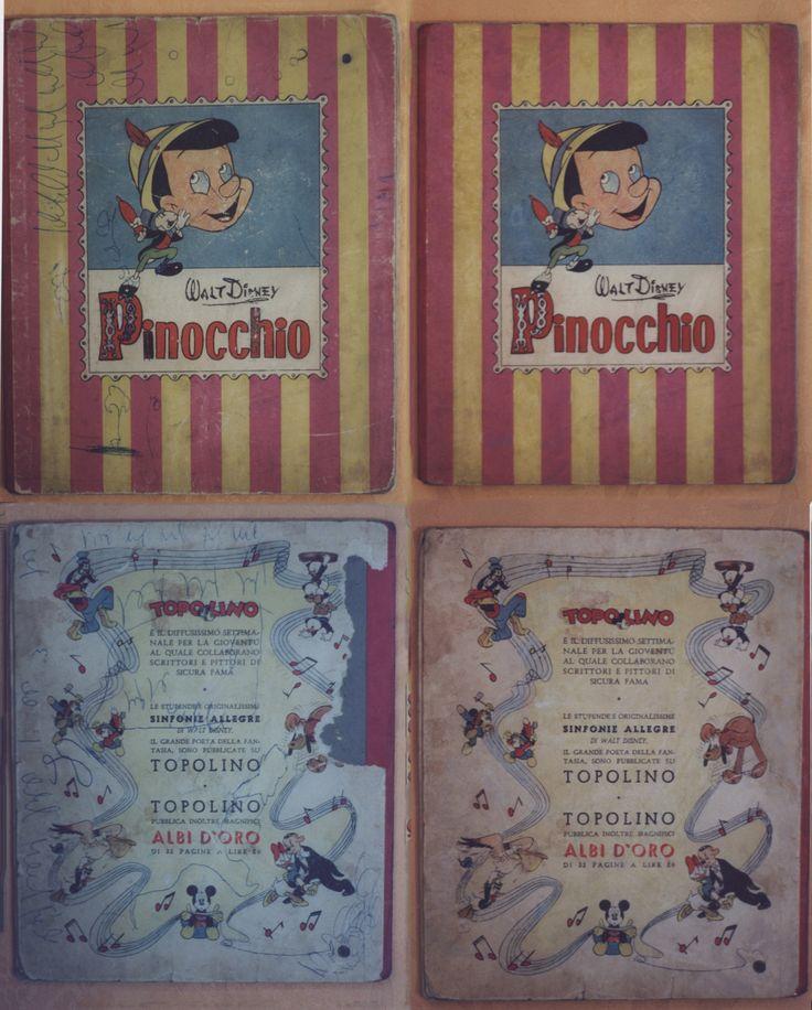 "RESTAURO PINOCCHIO ""I GRANDI ALBI DI WALT DISNEY"" ANNO I NR.1 1946 www.atelierdangelone.it"