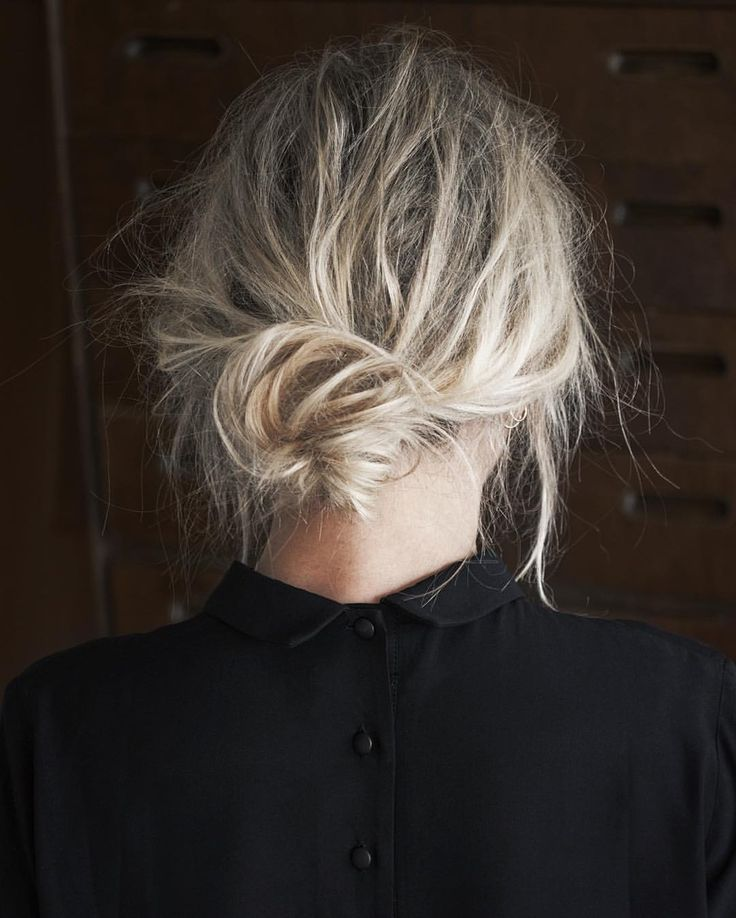 Chic Style - low messy bun, hairstyle inspiration