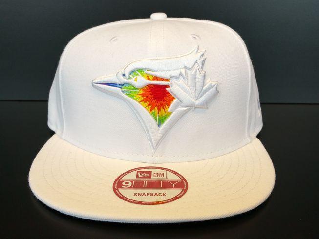 Toronto Blue Jays Snapback Exclusive Custom White Starburst