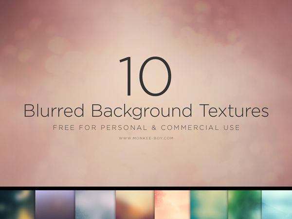Monkee-Boy 10 Free Blurred Backgrounds #psd #resources