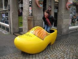 Extra Large Yellow Dutch Clog