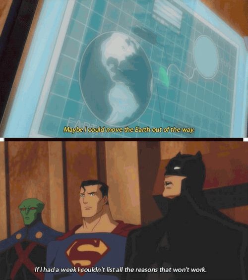 That time Superman's stupidity was physically painful.   15 Times Batman Was 100% Done With The Justice League