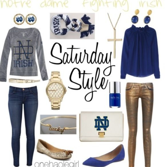Notre Dame Irish Outfits!!!  Someday for KFish