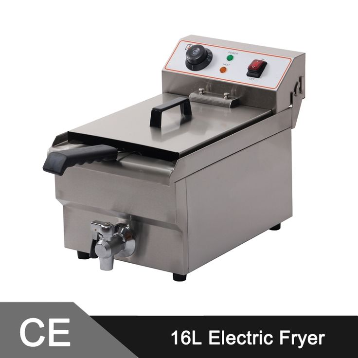 365.00$  Buy here - http://alitgg.worldwells.pw/go.php?t=1983407949 - 16L Electric Commercial Deep Fryer Single Tank Single Basket Stainless Steel Bench Top 365.00$