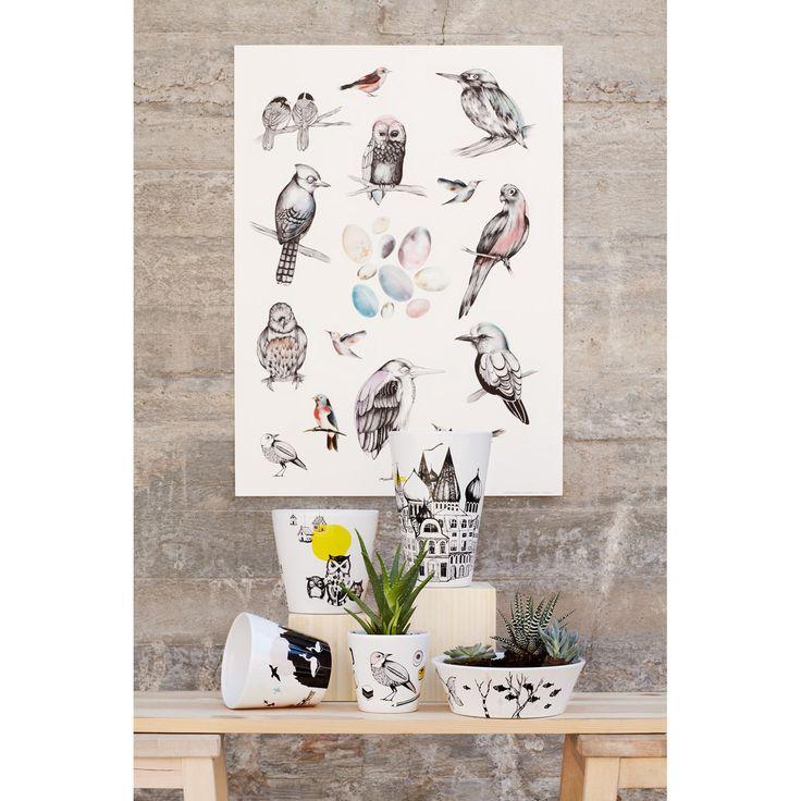 Birds poster från Mini Empire, formgiven av Jenny von Döbeln. Med denna poster kan du n...