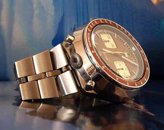 vintage SEIKO Bullhead 6138-004 chronograph automatic