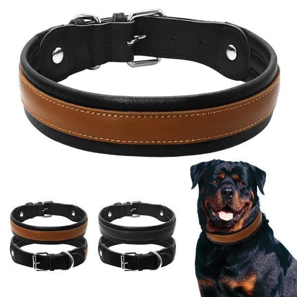 Genuine Leather Dog Harness For Medium Large Breeds Rottweiler Bulldog Pit Bull