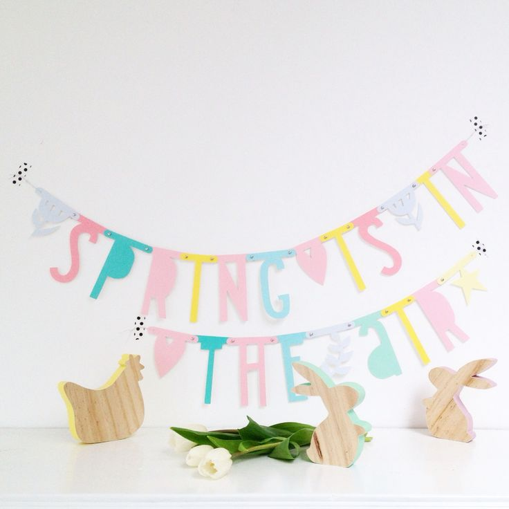 Pastel letterbanner te koop bij DITS&DOTS