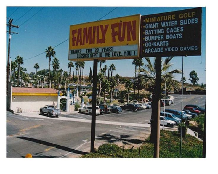 Family Fun Center...La Mesa OH the memories here
