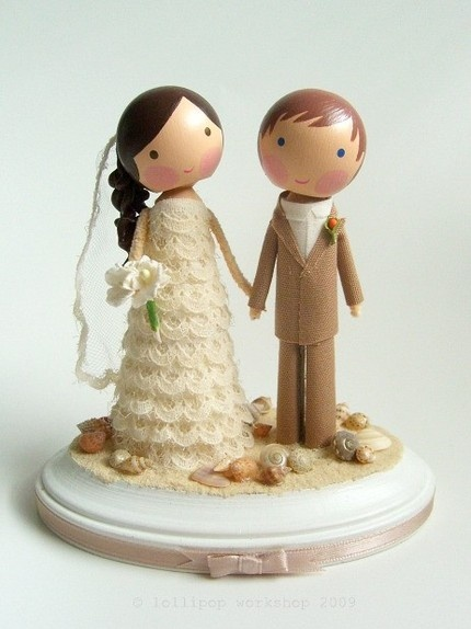 Wedding Cake Toppers: Cutesy to the max!